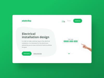 Elektrika ux design webdesign web ui  ux uiux uidesign ui