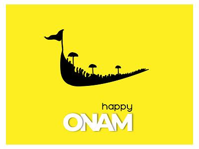 Onam vector poster design illustration typography graphic design design