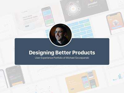 Portfolio Cover portfolio design product design ux presentation website portfolio