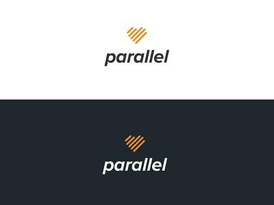 Parallel ios dating app dating logo dating parallel lines heart logo brand identity branding