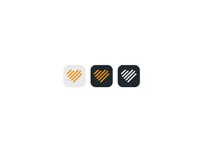 Parallel App Icon ios app icon design app heart orange lines parallel logo app icon