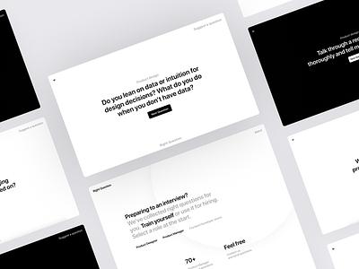 Right Question design web product design design ui ux minimalistic minimal simple white ui clean