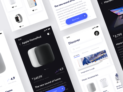 Apple store concept design ui ux interface minimalistic ios minimal simple app white ui clean