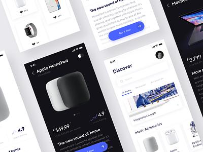 Apple store concept design ui ux interface minimalistic ios minimal simple app white ui clean