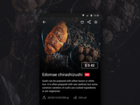 Delivery food app item screen