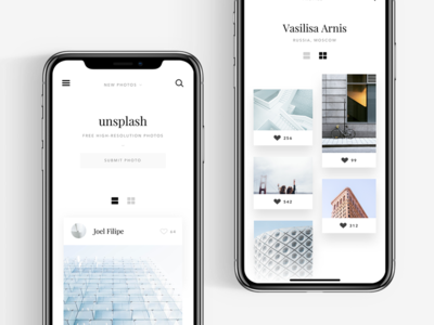 Unsplash website concept #3
