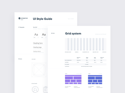 UI Styleguide. Design System