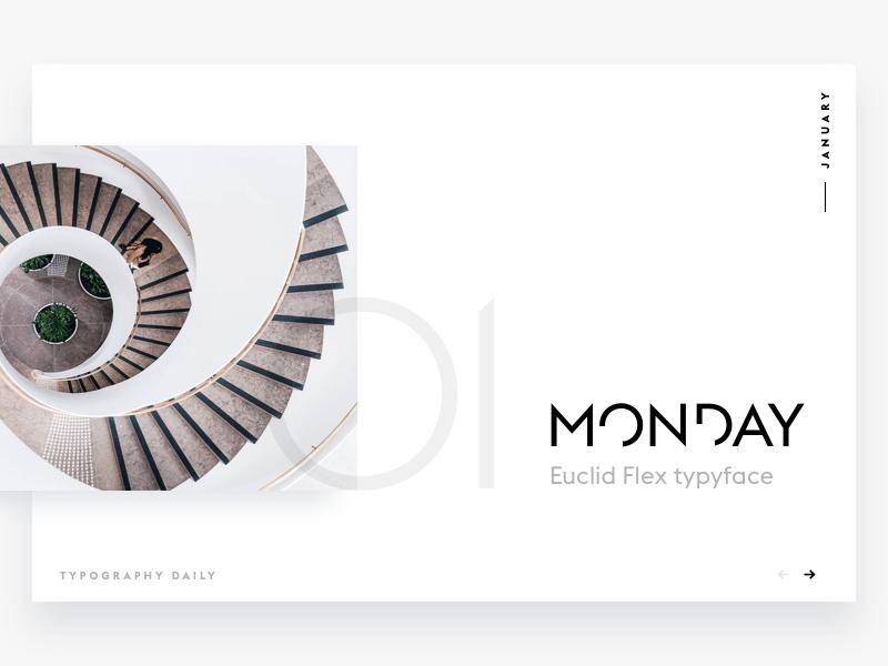Typography daily calendar #1 interface date web ui design typeface font calendar white clean