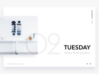 Typography daily calendar #2