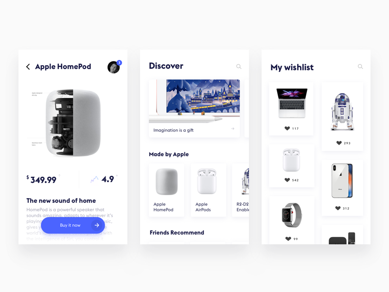 E commerce dribbble 2