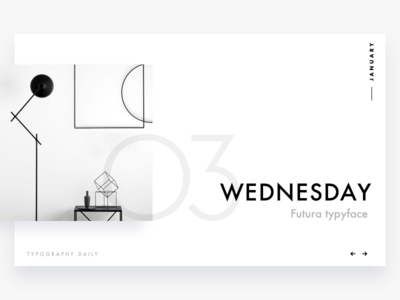 Typography daily calendar #3