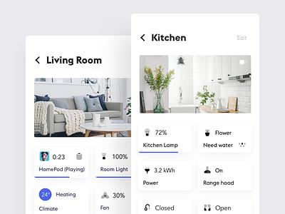 Smart Home App #3 ux ui simple mobile minimal app home smart home clean