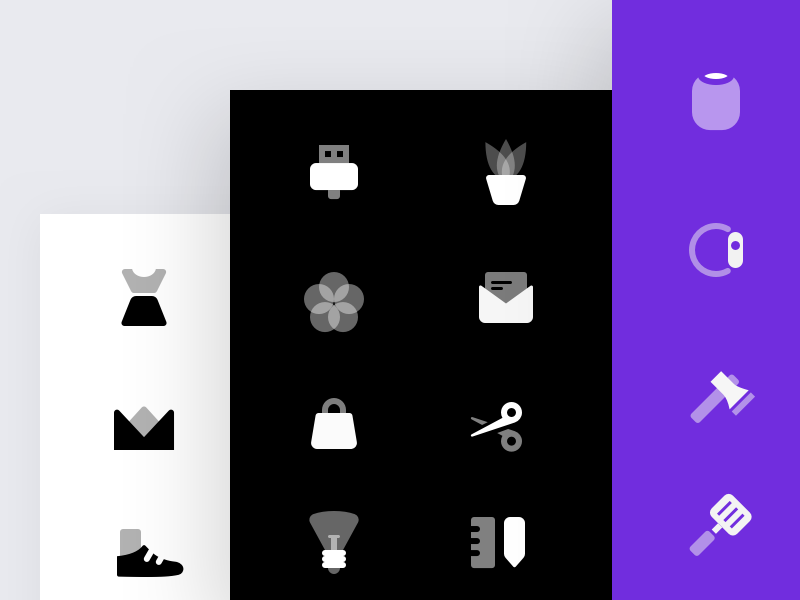 Duotone icons illustration icons set icon glyph duo tone clean
