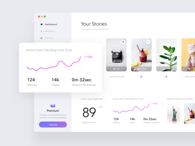 Stories widget dashboard #2