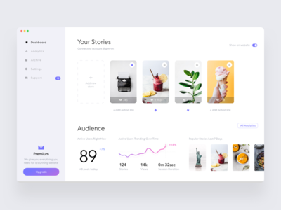 Stories widget dashboard #3