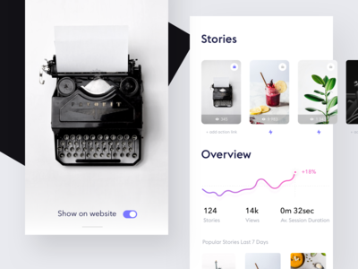 Stories dashboard