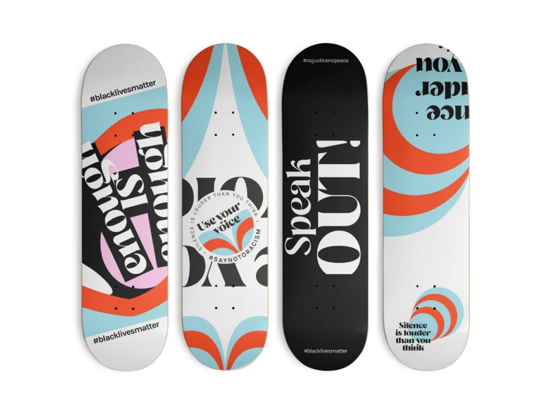 Black Lives Matter typography art donate merchandise fundraiser skateboards branding vector art blacklivesmatter blm