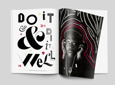 Do it & Do it Well | Lettering & editorial design