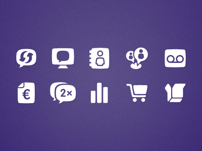 Icons purple