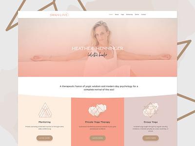 Swan Love Website Design wordpress blog coach yoga wordpress ui design