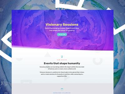 Visionary Sessions Website wordpress leadership ux design ui design