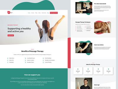 Igor RMT Website massage therapy wordpress uiux website