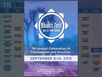 Bhakti Fest Program Guide program festival kirtan yoga indesign guide brochure