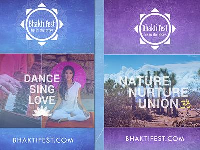 Bhakti Fest Poster festival yoga poster