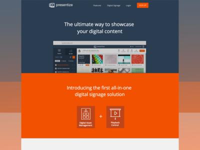 Presentize Website saas website development website ui