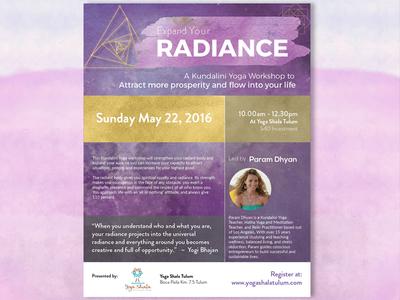 Flyer for yoga workshop yoga brochure print flyer