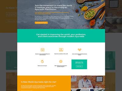 New World Ayurveda Homepage wordpress wellness ayurveda copywriting uiux website