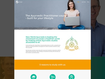 New World Ayurveda About Page wordpress wellness ayurveda copywriting uiux website
