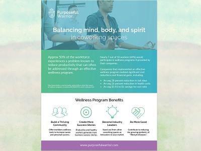 Flyer for wellness program wellness yoga meditation brochure print flyer
