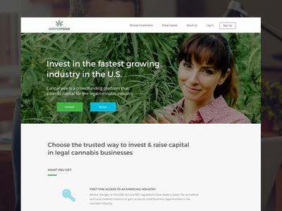 Cannaraise Website Home crowdfunding wordpress copywriting uiux website