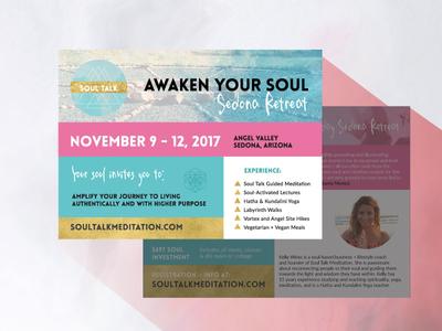 Soul Talk Sedona Retreat yoga retreat meditation flyer postcard
