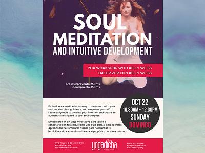 Workshop Flyer wellness yoga meditation brochure print flyer