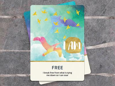 I AM Oracle Soul Cards indesign photoshop illustrator illustration tarot oracle cards