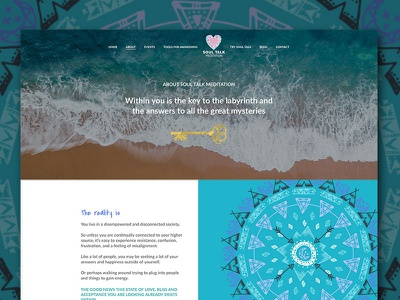 Soul Talk Meditation Website design branding wordpress copywriting uiux website