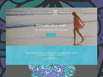 Soul Talk Meditation Website Homepage meditation design branding wordpress copywriting uiux website