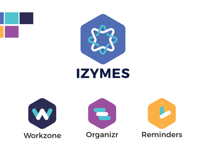 Izymes product suite visual identity bitbucket logos branding