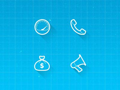 Line Icons line icon meter phone money megaphone