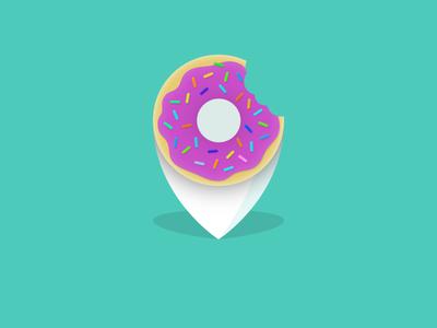 Donuts Pin pin donuts icon food