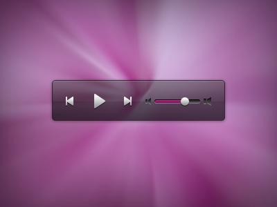 Audio control ui audio video media control player volume