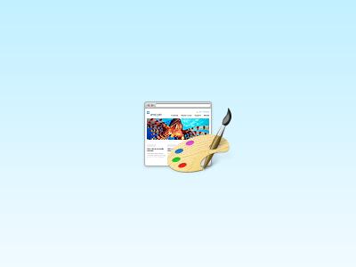 Web design icon web design icon palette