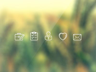 Portfolio Icons icon portfolio mail glass