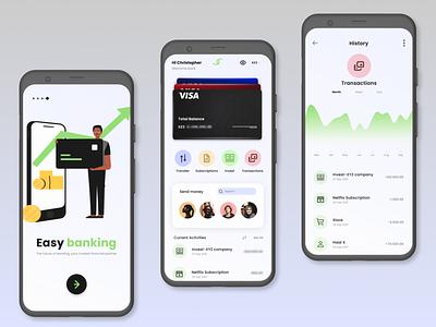 Banking App UI design design illustration app ux graphic design branding ui