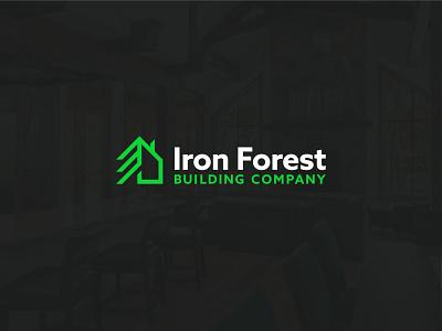 Iron Forest Logo branding logo house homes colorado breckenridge construction builder custom home