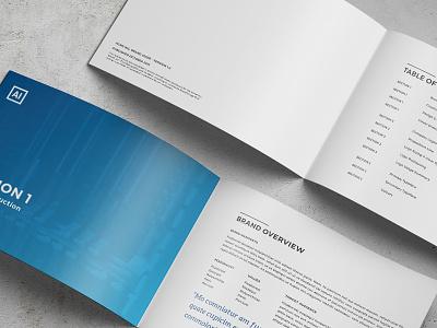 Modern Brand Guide - Template branding brand manual style guide template brand guide