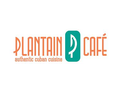 Plantain Cafe Logo restaurant food cuba cuban logo cafe plantain