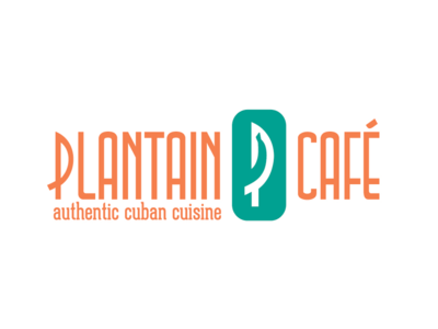 Plantain Cafe Logo restaurant food cuba cuban logo cafe plantain